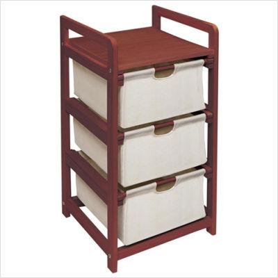 Cherry+Three+Drawer+Hamper+or+Storage+Unit