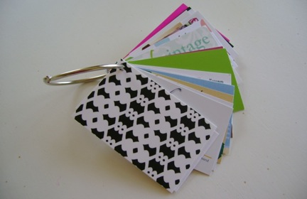 Stacey says business card storage the how of this is so simple first youll need a loose leaf book ring you can pick these up at any office supply store or check the office supplies colourmoves