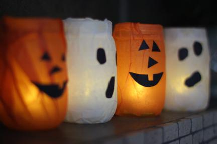 Pumpkin/Ghost Jar Craft
