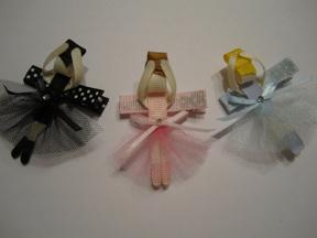 Hairbow-tique Ballerina Clips
