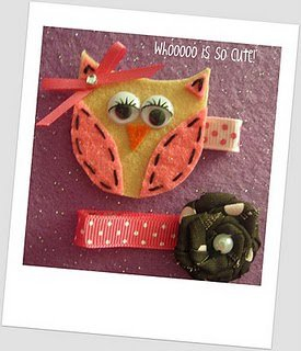 Hairbow-tique Owl clip