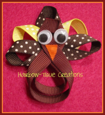 Hairbow-tique Turkey Clip