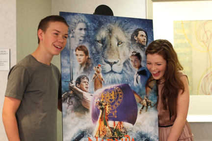 Will Poulter and Georgie Henley