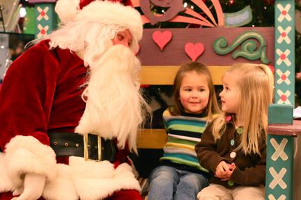 Visiting Santa 2010