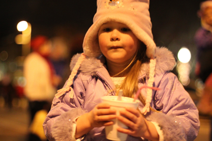 Sinterklaas Parade with Cold Stone Creamery hot cocoa