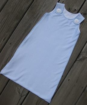 Blue Gingham Knit Cotton Sleep Sack