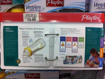 Playtex Baby Bottle Display