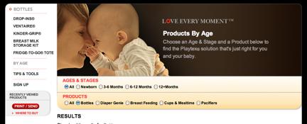 Playtex Baby website