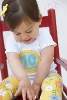 Sticky Bellies milestone stickers