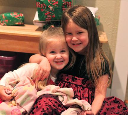 Sisters at Christmas