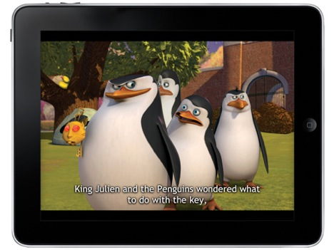 Penguins of Madagascar iPad app