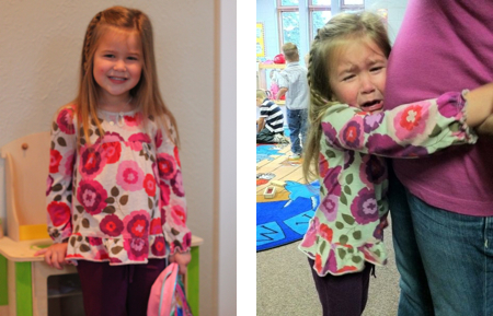 Abbi's first day of preschool