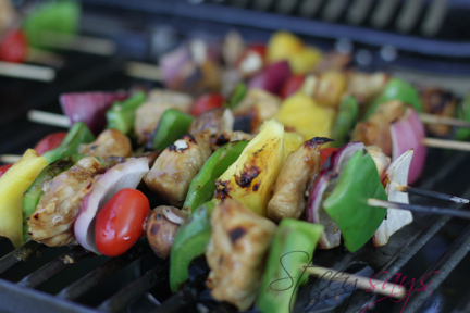 Chicken Shish Kabobs on the Grill