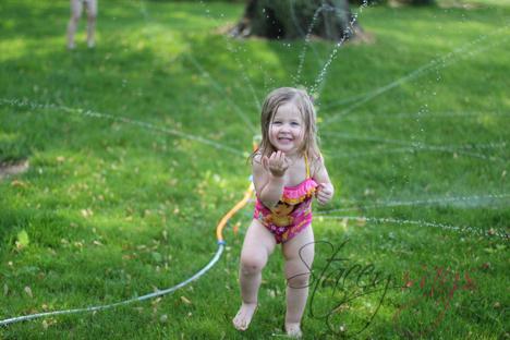 Backyard Water Sprinkler Fun