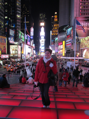Red Steps at Time Square