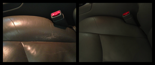 Seats (left: before, right: after) -- These look amazing now!