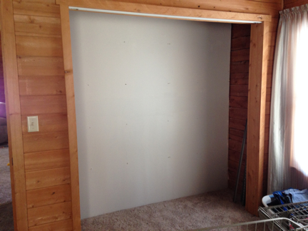 bedroom closet ~ cleaned out & organizers removed
